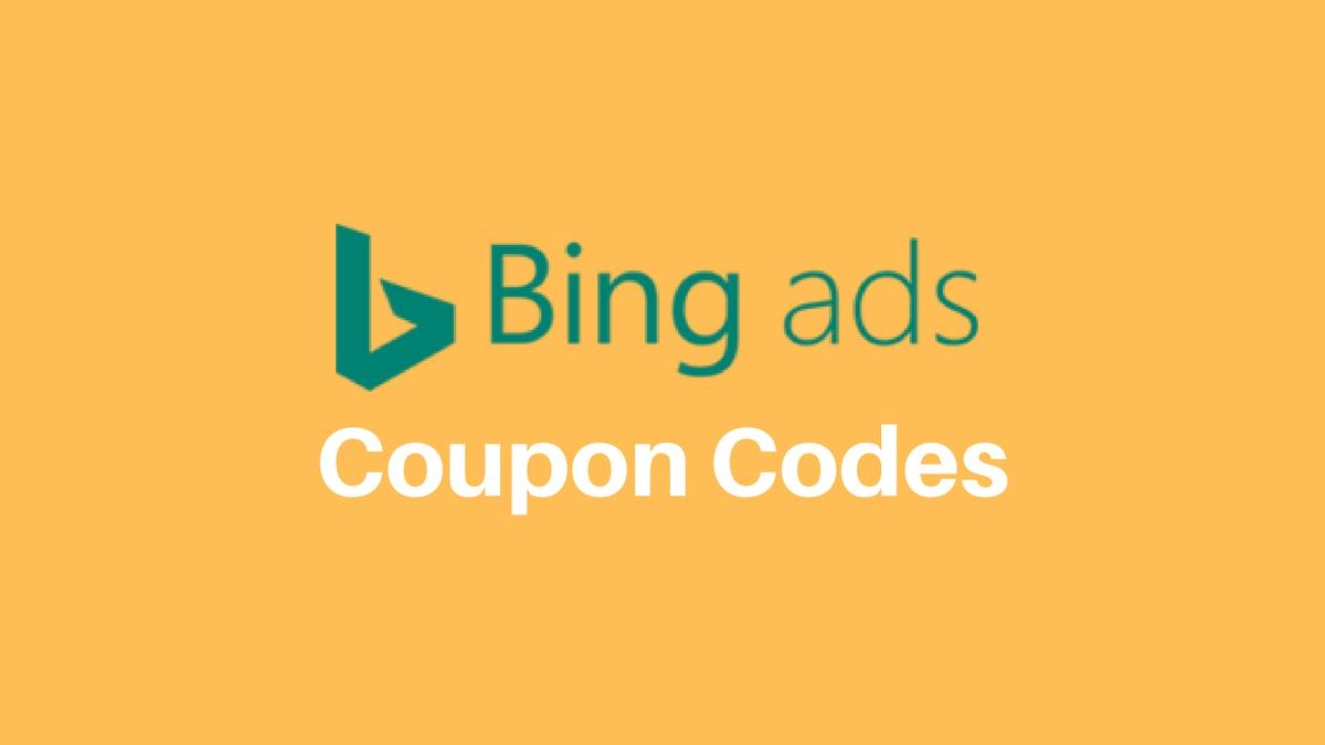 Bing Ads $100 Coupon