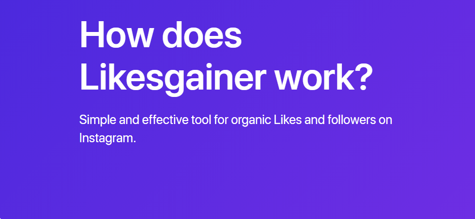 How Does Likesgainer work