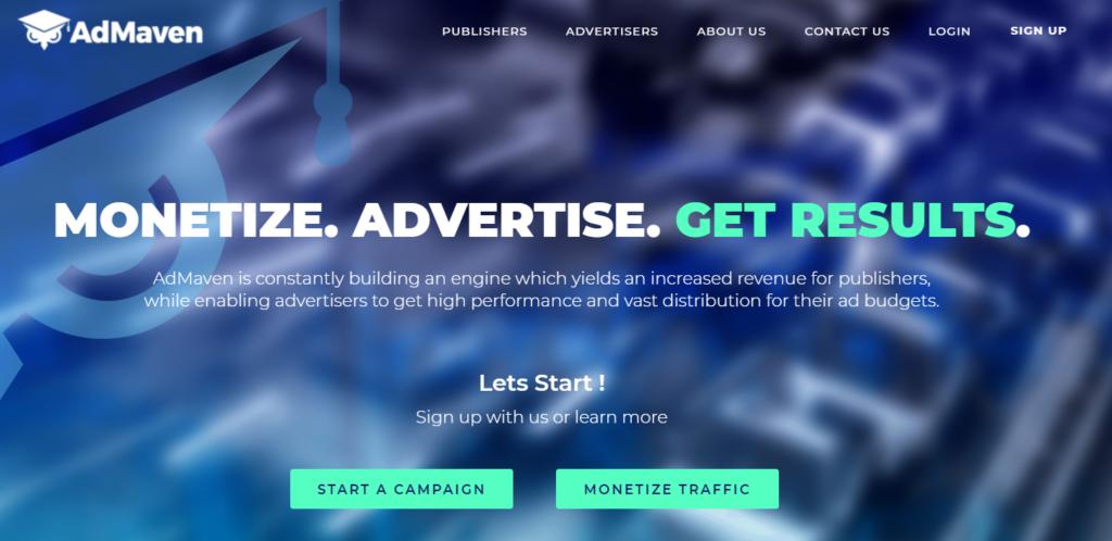 AdMaven Website