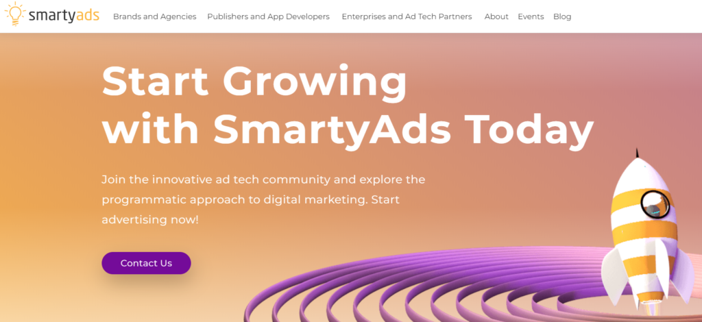 SmartyAds Website
