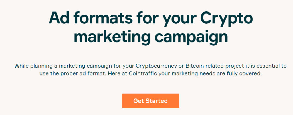 Cointraffic Ad Formats