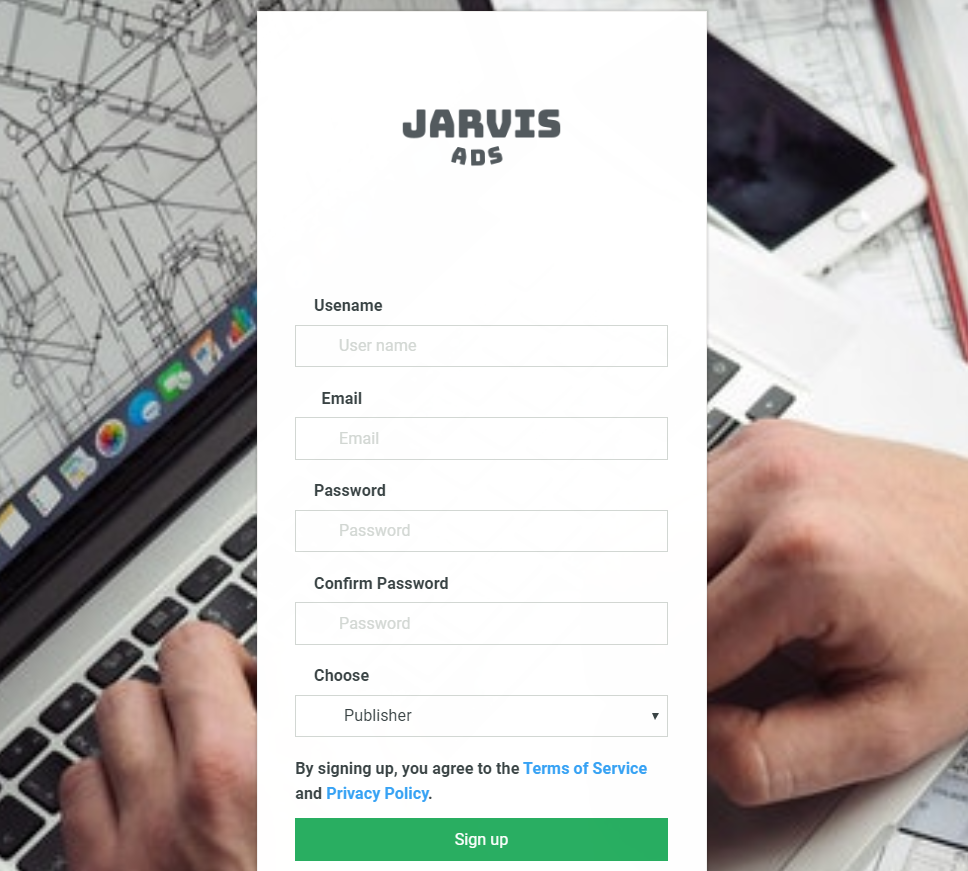 Create Jarvis Ads Account