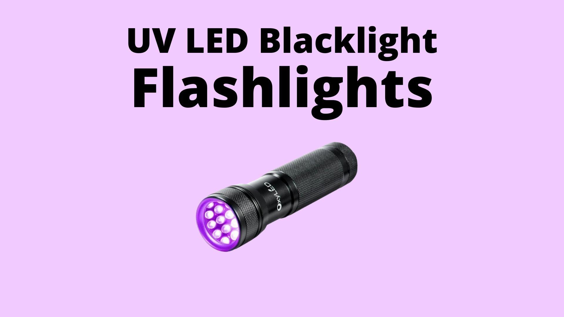 LED Blacklight Flashlights