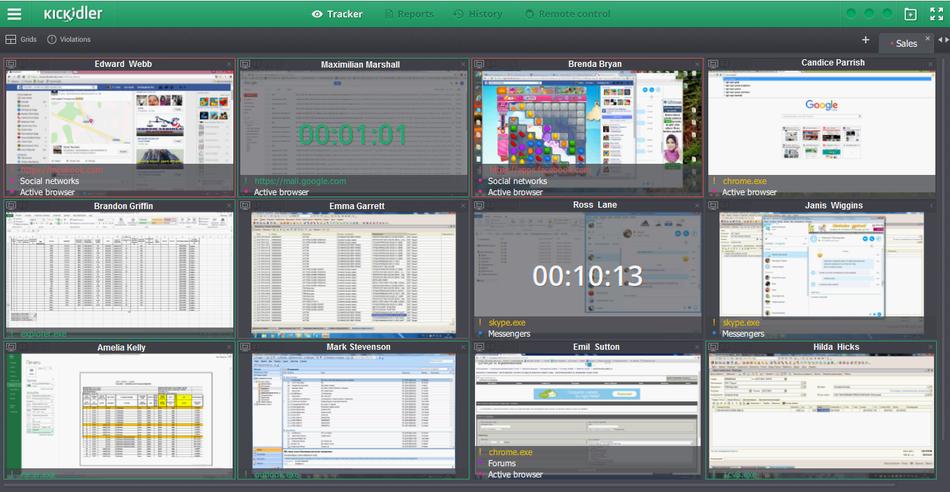 kickidler screen monitoring