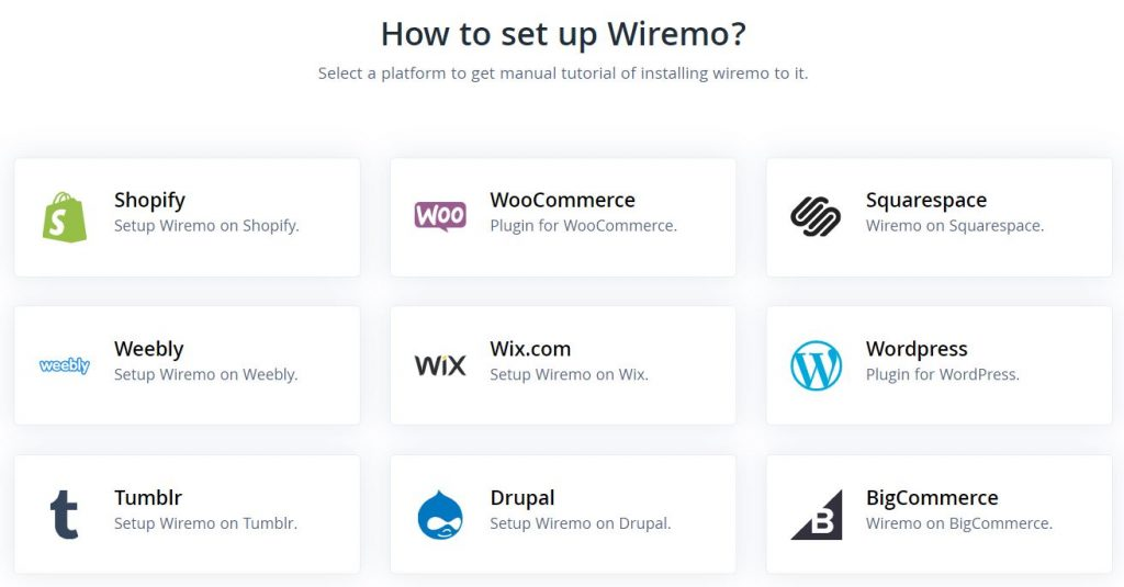 Wiremo Integrations
