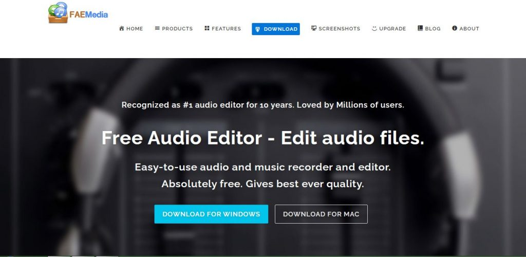Free Audio Editor from FAE Media