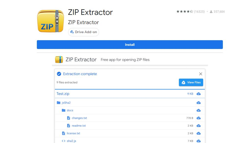 Zip Extractor