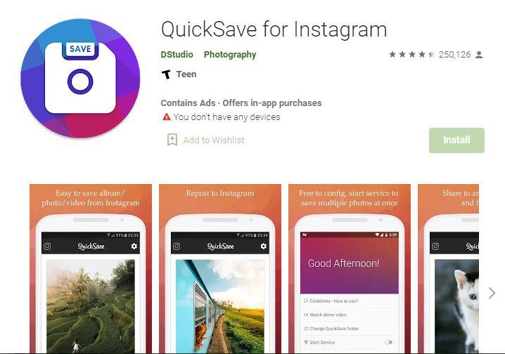 QuickSave for Instagram