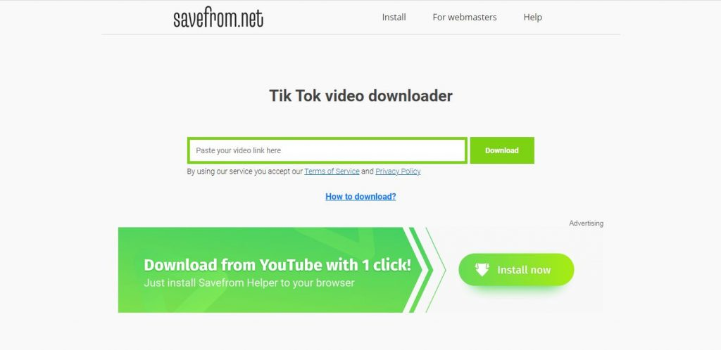 SaveFrom.net TikTok Video Downloader